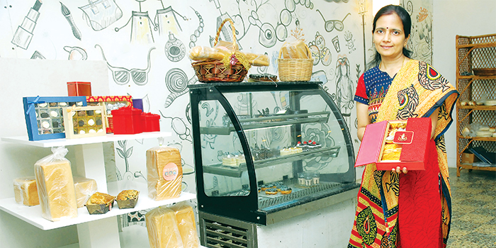 Shalini Padmanabhan at her outlet - 'Piece of Cake'.