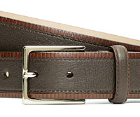 Leather brown belt from 'Brooks'