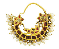 The Ruby and Pearl nose ring from Amrapali.