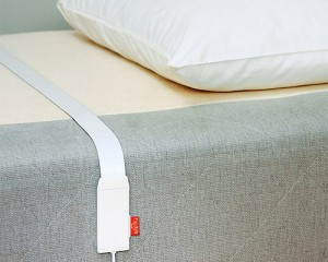 Beddit tracker Beddit is a sleep tracker with a difference. You actually place it under the sheets and it tracks your sleep patterns, heart rate, snoring, breathing, movements and surroundings, accurately. Wake up and connect to the app and it displays the quality and quantity of your sleep and how to improve it. Beddit is based on ballistocardiography (BCG). USD 100*. beddit.com