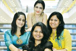Clockwise: Sarah Natasha, Shilpa Mitha, Vineetha Naval and Shwetha Balasubramanian