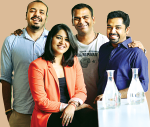 From left: Arnav Bajoria,  Shitija Nahata, Sandesh Reddy and Rohit Zachariah
