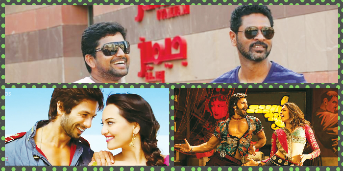 (Clockwise from top) Vishnu Deva and Prabhu Deva, a still from 'R....Rajkumar' and 'Goliyon Ki Rasleela Ram Leela'.