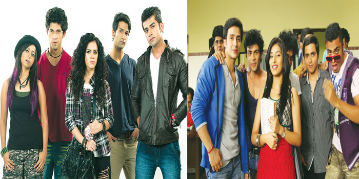 (Left) The cast of 'Paanch' and 'Saada Haq'