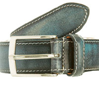 A  distressed blue belt by Bettanin & Venturi