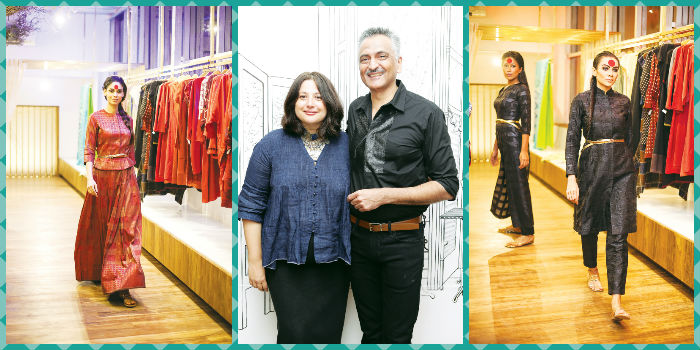 (In the centre) Kiran Rao and Rakesh Thakore.