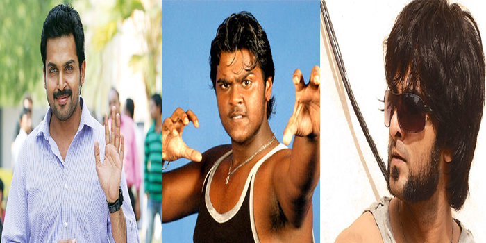(From left) Karthi, Shanmughapandian, and Richard