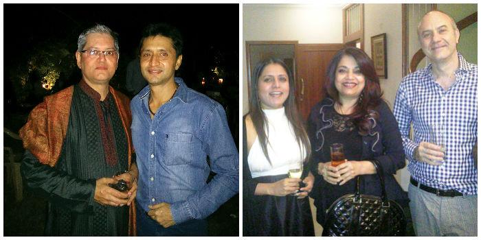 (Left) Praveen Mansata & Rikin Kotecha; Deepa Subramanian, Nalini Nanjudaya & Franck B