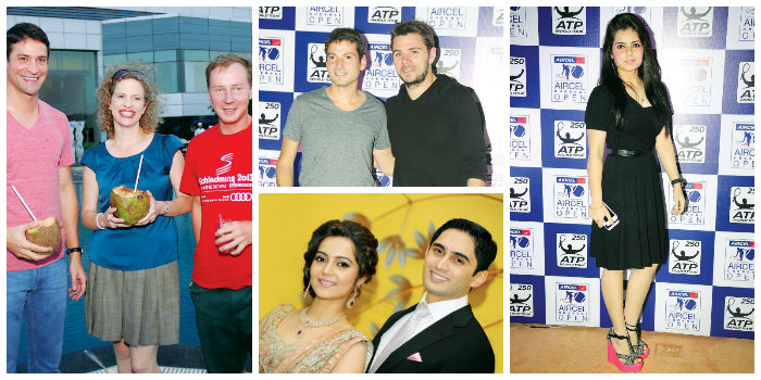 (Left, Centre and Right) are Pictures from the Chennai Open. (Below) Suraksha Bhatla and Varun Acharya