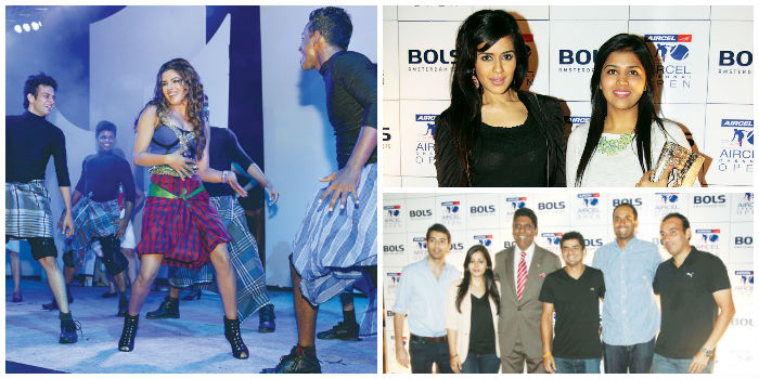 (Left) Priyanka Chopra at the Park Hyatt New Year's Party Eve, (Right) Tennis Players Rajiv Ram and Vijay Amritraj with friends at the BOLS Chennai Open Bash