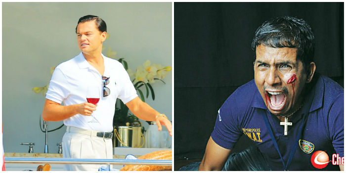 Still from (left) 'The wolf of wall street' and 'Agadam'