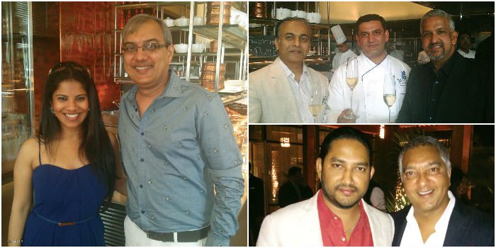 From left, Athena Salim & Aslam Gafoor, (top right) Kripal Amana, Anupam Banerjee & Chander Mannar and (below) Hemanth Surreddi & Rocky Patel