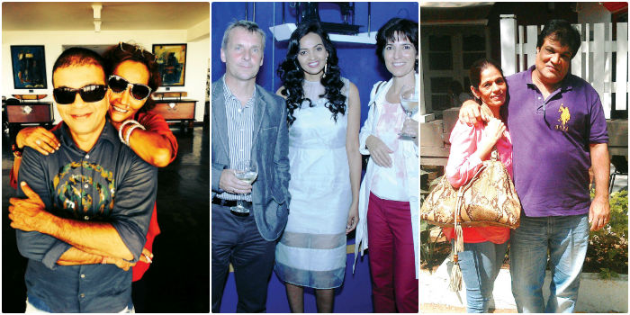(From left) Prasad Bidapa & Bibi Russel, Jorn & Sonia Rohde with Michelle Salins, Shaheen & Rohit Yennamadi