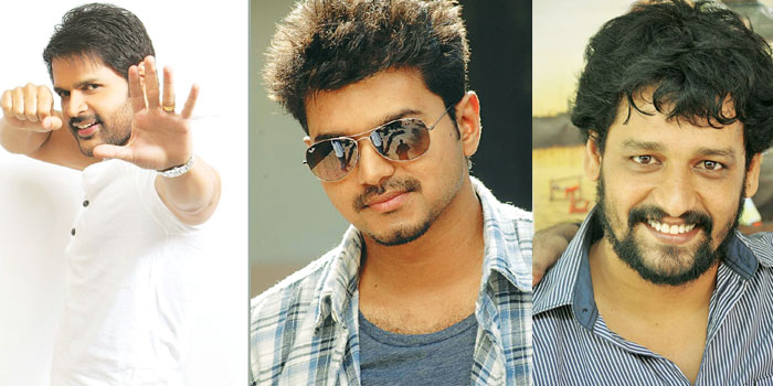 (From left) Shaam, Vijay and Vidharth