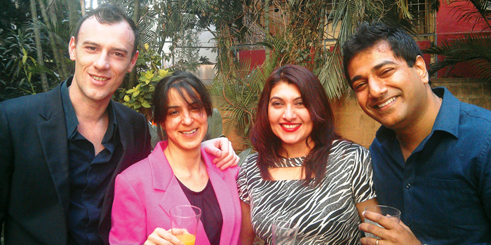 From Left, Bruno Ferrari, Esmath Khaleeli, Pinky & Girish Padmaraj