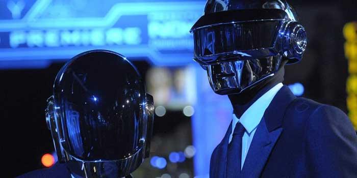 Band members of 'Daft Punk'.