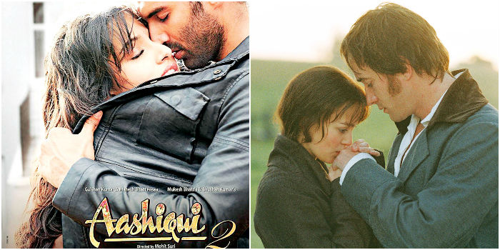 Stills from Aashiqui 2 and Pride and Prejudice