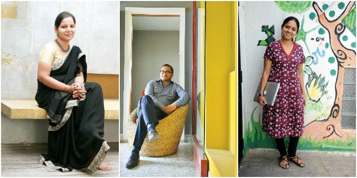 (From left) Samhita M, Ashok Dutta and Aarti Mohan