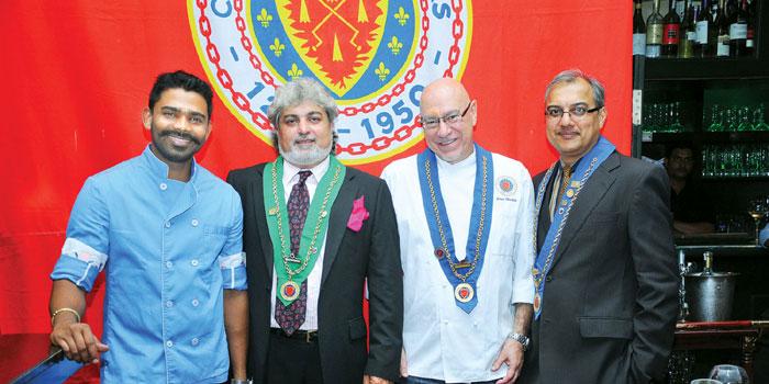 Goutham Balasubramanian, Rishad Minocher, Jean Michel Jasserand and Aslam Gafoor