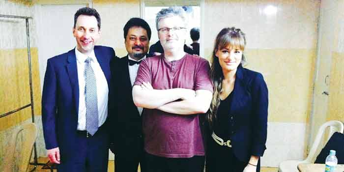 Gavin Reid, Krish Kumar,James Macmillan and Nicola Benedetti