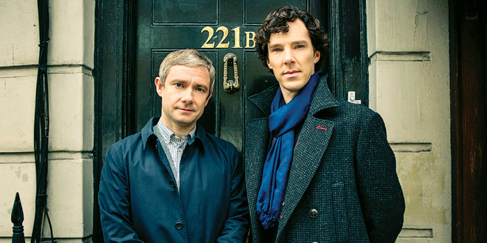 Sherlock's Martin Freeman and Benedict Cumberbatch