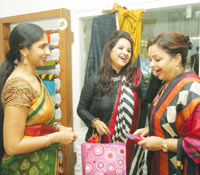 Priya Selvaraj, Neesha Amrish  and guest at the store launch