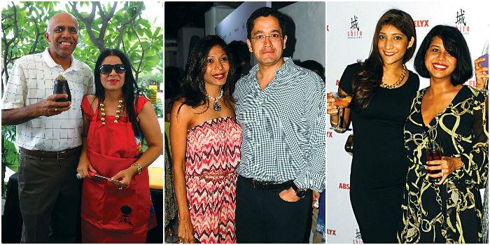 From left, Suresh & Arti Sud, Anisha Bhandary & Dhruva & Megan Abraham & Deepali Pawar