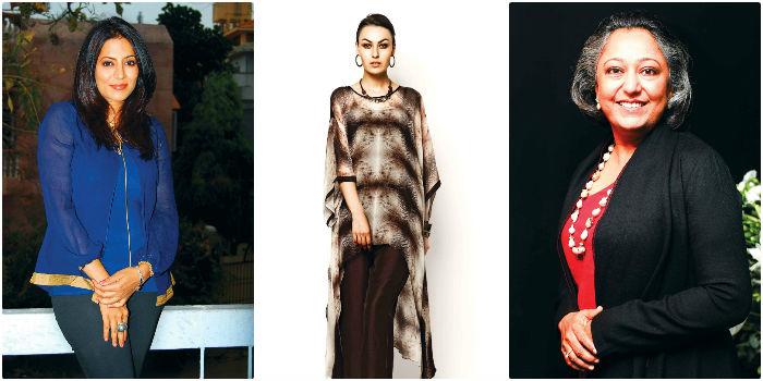 Fromt left, Deepika Govind, Outfit designed by Divyam Mehta & Yashodhara Shroff