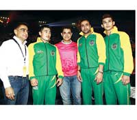 Aamir Khan with the Patna Pirates