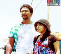 Actor Gokulnarth and Actress Meghna in Aaaah Movie Stills