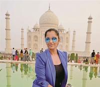 Sania Mirza at Taj Mahal