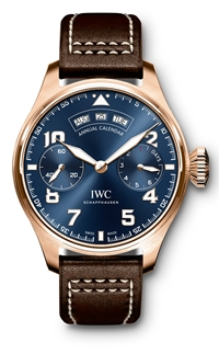 IWC Big Pilot's watch annual calendar le petit prince