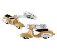 Silver Enameled Scooter Cufflinks_Cufflink Collection_Rs.4,400